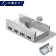Orico 4 Ports USB 3.0 HUB Clip Design Aluminum Alloy Clip-type Portable Size Travel Charger Charging Hub Station for Laptop(China)