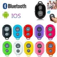 Bluetooth inalámbrico teléfono inteligente Cámara de Control Remoto obturador para monopie palo Selfie compatible con Android IOS iPhone X iPhone 8