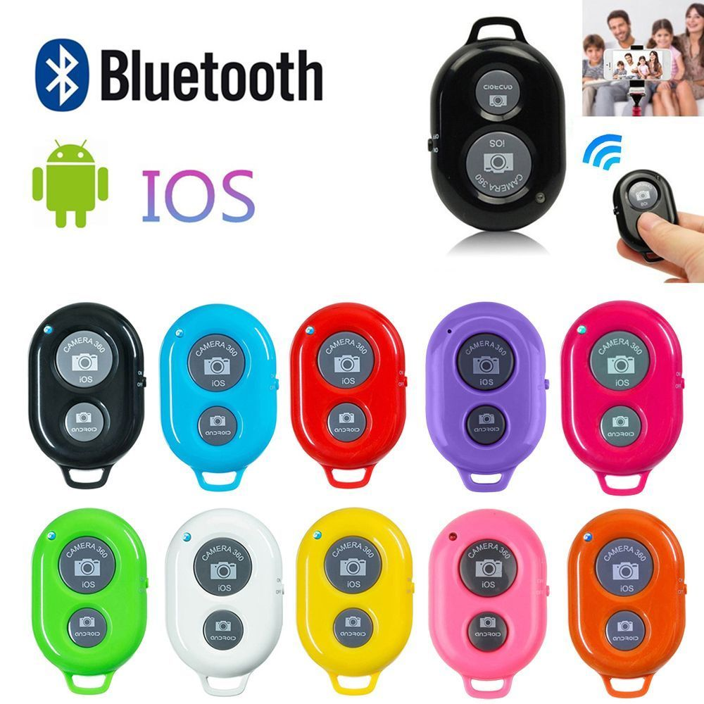 Wireless Bluetooth Smart Phone Camera Remote Control Shutter For Selfie Stick Monopod compatible Android IOS iPhone X iPhone 8|Selfie Sticks| |  - title=