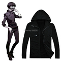 Tokyo Ghouls Ken Kaneki Cotton Hoodie Black Casual Jacket Coat Outfit Anime Cosplay Costumes