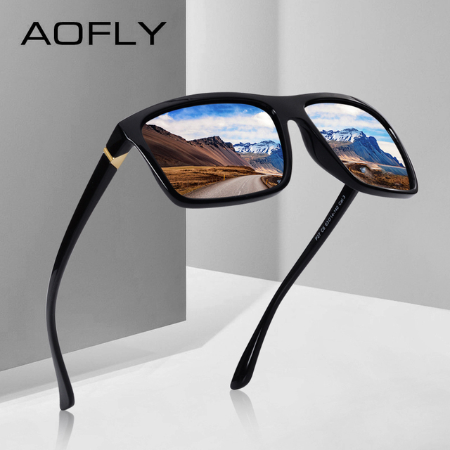 8bd0d017ba AOFLY BRAND DESIGN Polarized Sunglasses Men Square Frame Sun Glasses For  Women Vintage Retro Goggles Eyewear Gafas UV400 AF8066