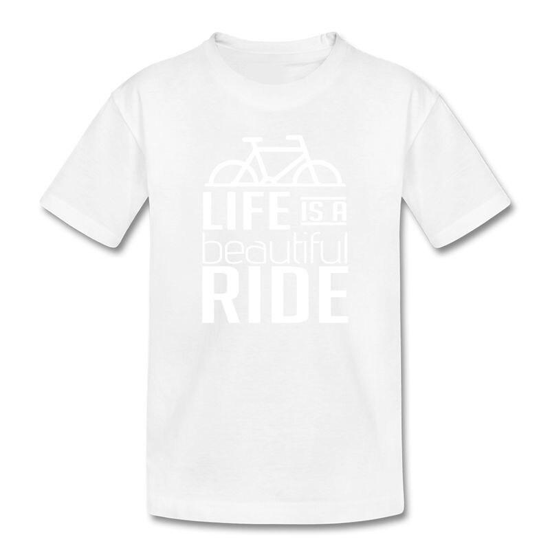 Fashion Logo Printing T Shirts MenS Short Kids Biker Life Is A Ride O-Neck Fashion 2018 Tees