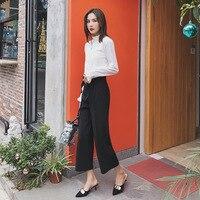 Модные брюки Новые широкие повседневные Летние прямые брюки женские свободные брюки женские Бесплатная доставка