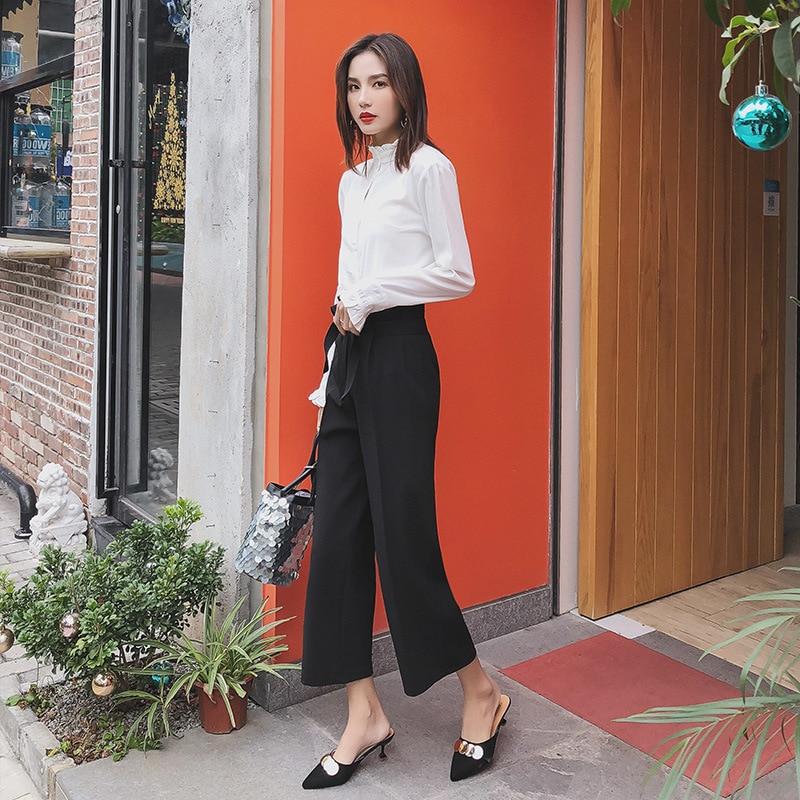 Calças moda de nova ampla lege Casuais verão Calças retas Mulheres Calças Soltas fêmea frete grátis