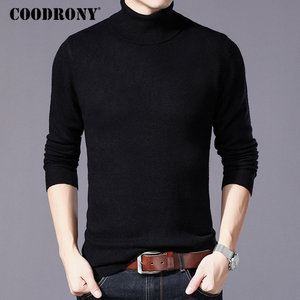 Image 2 - COODRONY Pure Merino Wool Sweater Men Winter Thick Warm Turtleneck Mens Sweaters Cashmere Pullover Men Christmas Pull Homme W004