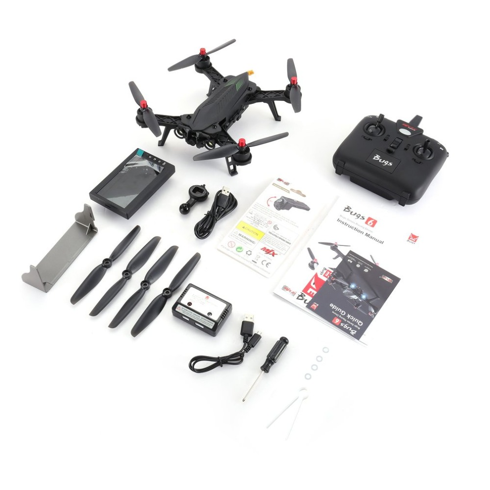 RC Drone 2.4GHz 4CH 6 Axis Gyro RTF Helicopter With HD 720P 5.8G FPV Camera&4.3 LCD RX Monitor Remote Control Quadcopter Toys