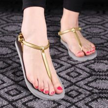 Flip Flops Women T Stripe Summer Flat Sandals Slippers 2016 Women Beach Shoes Slides Fashion Women Sandals Sandalias