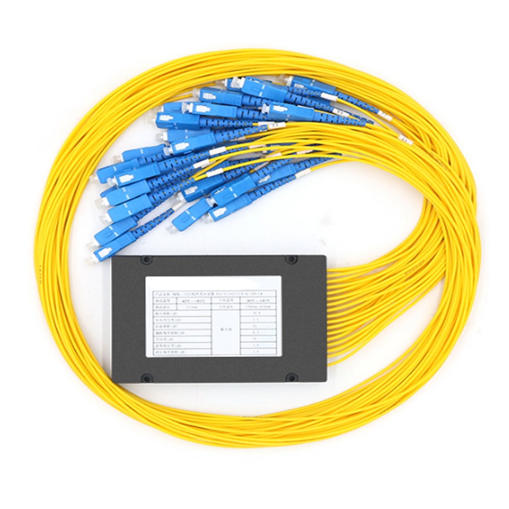 SC/UPC 1x32 FBT Fiber Optic Splitter 1310/1550nm Singlemode, PLC Splitter Module SM 1M, High Reliability