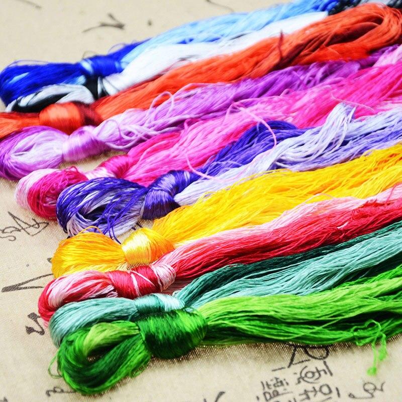 High Quality 30/50/100/500 skeins silk embroidery Suzhou embroidery thread Silk Floss Handmade Embroidery cross stitch Threads