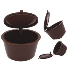 2pcs Refillable Reusable Compatible Coffee Filter Capsules Pods Cup for Dolce Gusto Machines Kitchen Tools with 1 Coffee Spoon