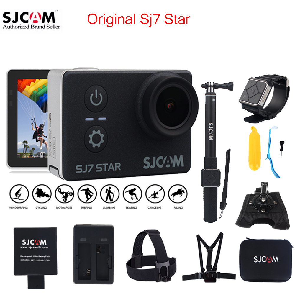 100% Original SJCAM SJ7 STAR Wifi 4k Touch Screen Remote Ambarella A12S75 30M Waterproof Sports Action Camera Cam Mini DVR