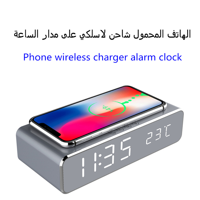 New arrival HD LED luminous digital alarm clock With thermometer Desktop electric clock modern decor LED emitting bedroom clock