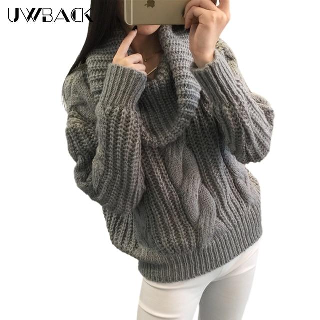 Uwback 2017 Neue Winter Frauen Pullover und Pullover Verdreht Muster ...