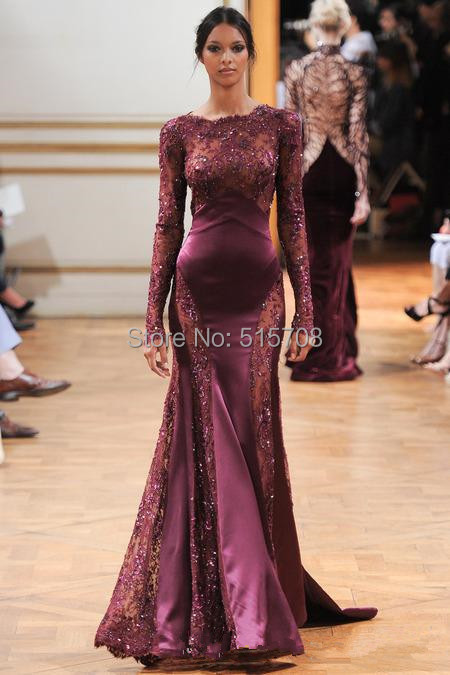 Long sleeve lace party dress