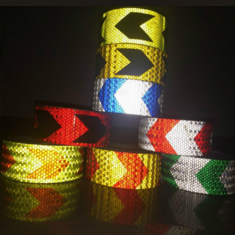 5cmx300cm Reflective Tape Car Sticker Auto Motorcycle Safety Warning Mark Self Adhesive Tape Reflective Film Decal Car Styling