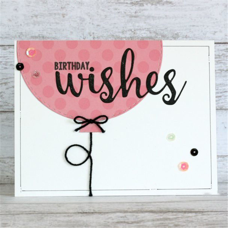 Letter Wishes Frame Metal Cutting Dies with Clear Stamps for Craft Scrapbooking Album Embossing New for 2019 Card Making in Cutting Dies from Home Garden