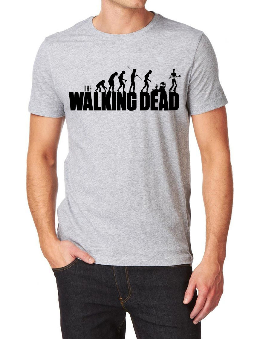 Fashion Hot sale Evolution of Men The Walking Dead Inspired T Shirt - Gift for Dad Fathers Day Tee shirt