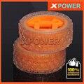 Envío gratis 4 unids/lote Para Robot proyecto 47X21mm juego de Ruedas de Neumáticos de Caucho de Neumático y Llanta de La Rueda Transparente Neumático de la rueda
