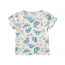 Summer Baby Boys Tops And Tees Children Kids Boy Short Sleeve Cartoon Dinosaur Star Printed Top T-shirt Baby Boys Clothes #BL2(China)