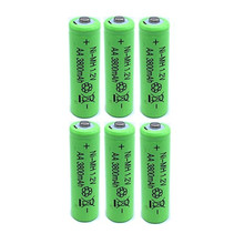 6XAA battery New Original 3800mAh 1.2V NiMH Rechargeable Battery Free shipping