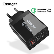 Essager Quick Charge 3.0 USB Charger 30W QC3.0 QC Turbo Fast Charging Multi Plug Mobile Phone Charger for iPhone Samsung Xiaomi(China)