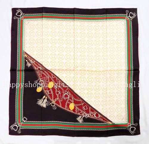 Elegante marca hecha a mano 100% crepe satén liso seda bufanda
