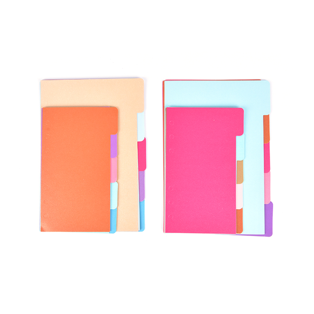 A6 6-Ring Loose Leaf Binder Journal from Chris Wang 1 Clear Page Maker + 6 Index Divider Tabs Refillable 1 Ziplock Pouch Included Dot Grid//Square Grid//Ruled//Blank w// 80 Insert Pages
