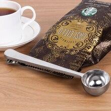5 шт./пакет Кухня инструмент Многофункциональный Нержавеющая сталь мерная ложка для кофе с сумкой клип уплотнения мерная чайная ложка