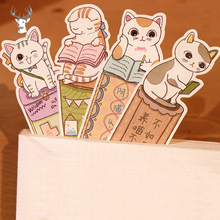 30Pcs/lots Cute Funny Cat Bookmark Paper Cartoon Animals Kids Student Gift School Stationery Film