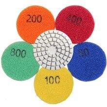 2 pollice 50mm Del Diamante Bagnato Tampone lucidatura Di Pietra di Marmo Granito Cemento di Vetro Flessibile