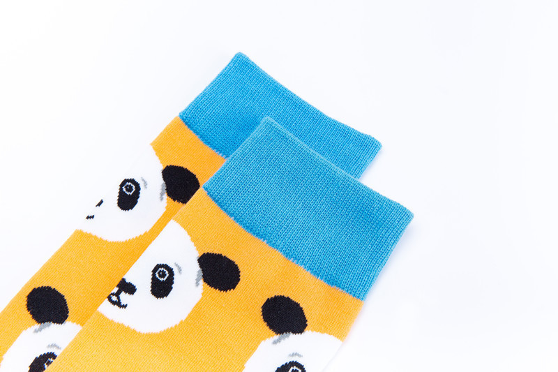 Peonfly Fashion Print Chinese Panda White Cat Bird Pattern Colorful Happy Socks Men Casual Ventilation Cotton Sock Autumn Winter Men's Socks