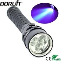 Aluminum 10W Ultraviolet Lantern 3000LM 3x XPE Purple Light Underwater 100m UV Diving Flashlight Torch 395
