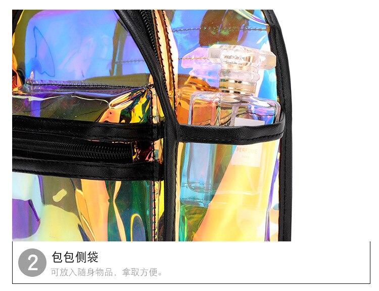 Mini mochila pvc transparente geléia sacos de