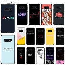 цена на Lavaza Simple Text Soft Case for Galaxy Note 8 9 S7 edge S8 S9 S10 Plus S10e M10 20 30 Cover