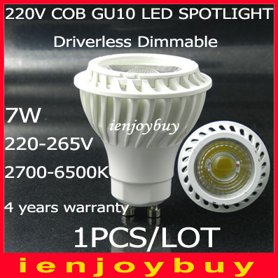 цены  1pcs indoor light Dimmable Driverless cob led lamp GU10 spotlights 220v-265v 7W COB LED bulb spot lights warm white