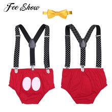 Outfit Bloomers Suspender Baby-Boys Clothing-Set Bowtie-Costume First Birthday Infant