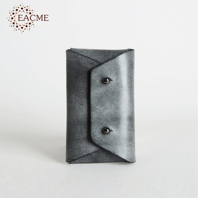 Eacme handmade fog wax leather business card holder men credit card eacme handmade fog wax leather business card holder men credit card case original hasp card pack colourmoves