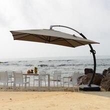 3,5*3,5 м алюминий deluxe открытый патио Защита от солнца зонтик сад зонт от солнца мебель чехлы для мангала с колёса Рождество