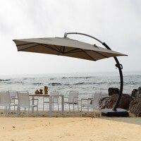 3.5*3.5 meter aluminum deluxe outdoor patio sun umbrella garden parasol sunshade furniture covers with wheels for Christmas