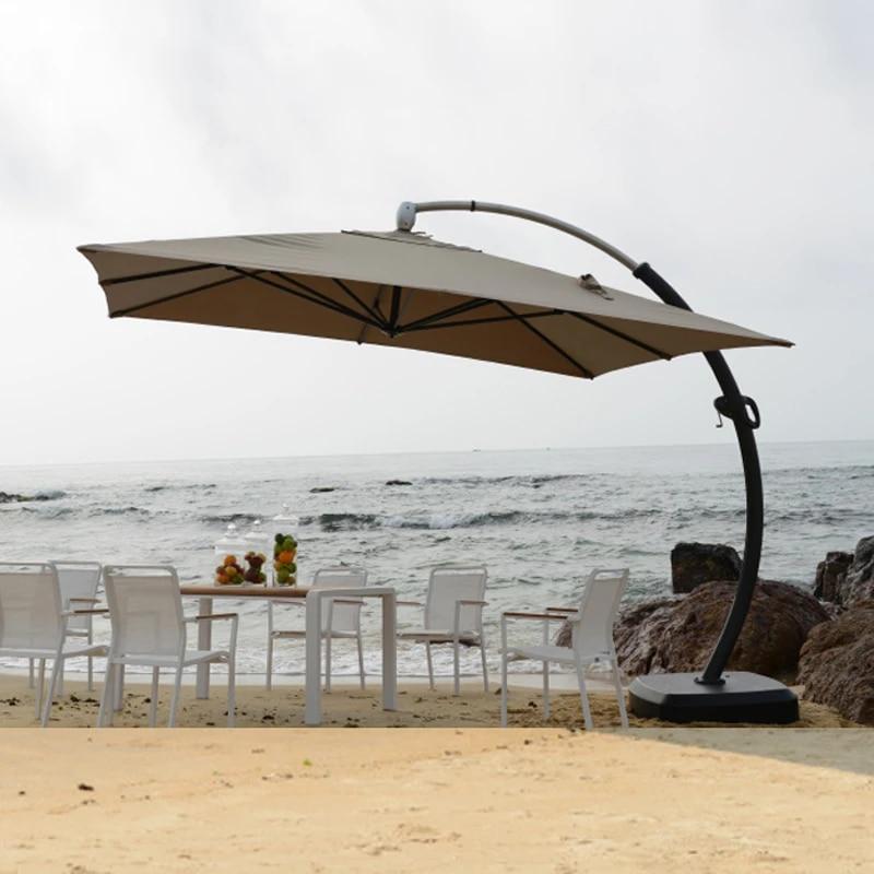3 5 3 5 meter aluminum deluxe outdoor patio sun umbrella garden parasol sunshade furniture covers with wheels for christmas
