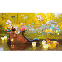 Diy 3d Diamond Painting Fairy Tale World Elderly And Children 5d Diy Diamond Embroidery Oil Canvas