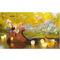 Diy 3d Diamond Painting Fairy Tale World Elderly And Children 5d Diy Diamond Embroidery Oil Canvas