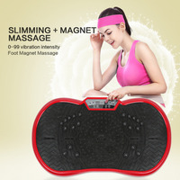 2018 New Brand Black mini Ultra thin Vibration Fitness Massager for keeping health Fitness Equipment Fitness & Body Building HWC