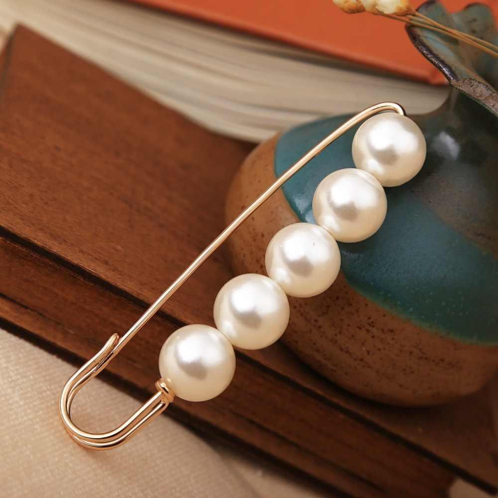 Duże koraliki 8 czakra OneckOha symulowane broszka z perłami sukienka dekoracje cyrkonią zapinka biżuteria broszki dla kobiet mężczyzn