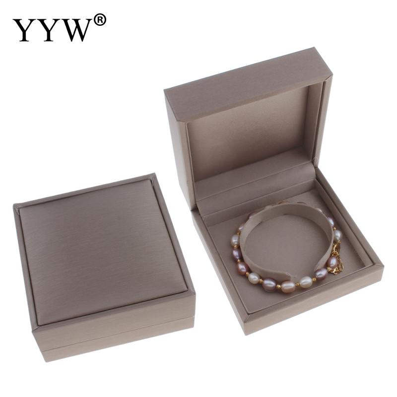 Hot High-end Gray Tiny Paper Case Box Luxury Cardboard Bracelet Box Rectangle grey 90x42mm Gift Jewelry Packaging Boxes