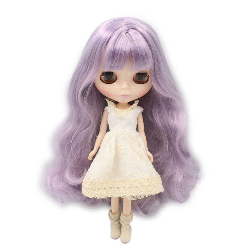 Free shipping Nude Blyth Doll Series No 1049 For Dream Purple hair with bangs White skin