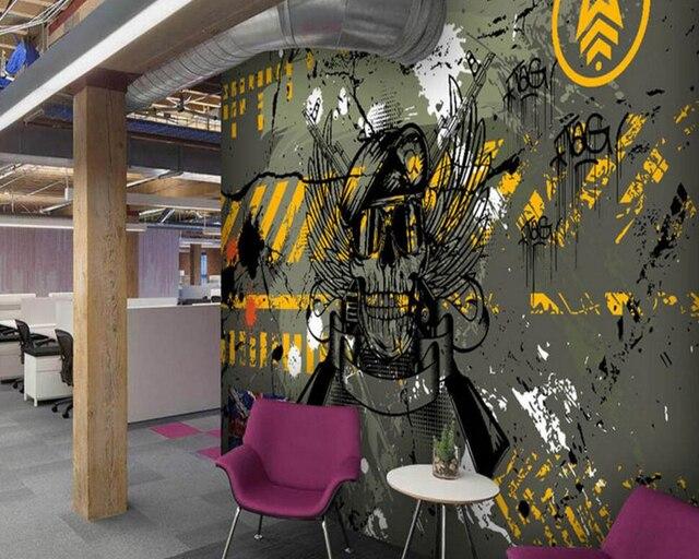 benutzerdefinierte graffiti tapete stra e camouflage. Black Bedroom Furniture Sets. Home Design Ideas