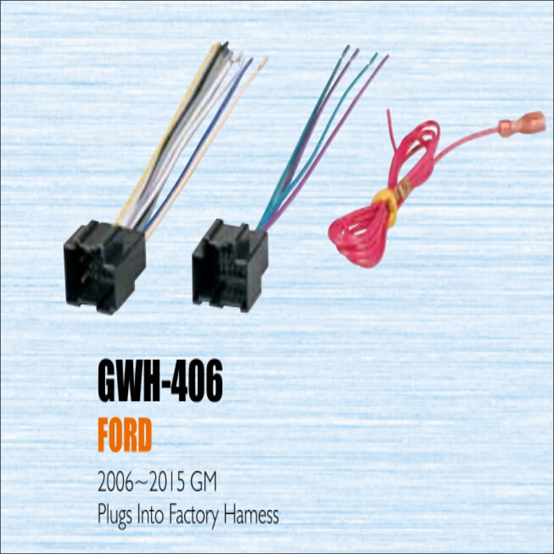 plugs into factory harness for ford 2006 2013 gm radio. Black Bedroom Furniture Sets. Home Design Ideas