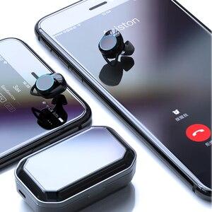 Image 5 - Led luz fria display digital x6 atualizar ipx7 design à prova dwireless água sem fio bluetooth fones de ouvido para ip7 8 plus/max para sumsang