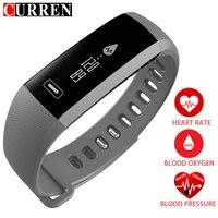 الرجال النشاط اللياقة ضغط الدم رصد معدل ووتش القلب الذكية المقتفي الاسورة سوار pulsometer لالروبوت ios الهاتف